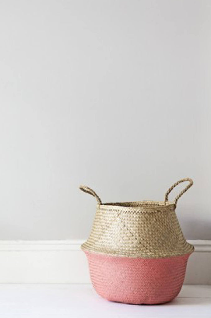 Coral Dipped Belly Basket - Medium