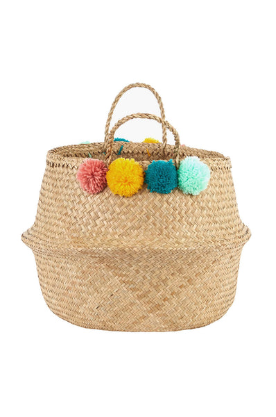 Olli Ella  Pom Pom Belly Basket - Large