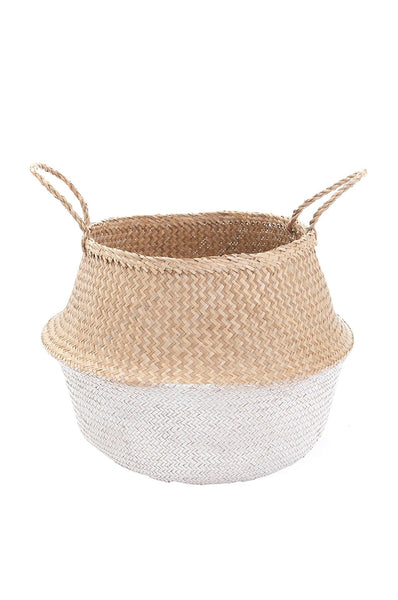 Olli Ella  White Dipped Belly Basket - Large