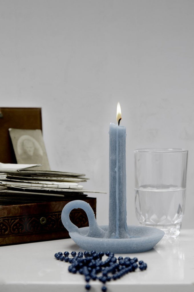 Tallow candle burgundy