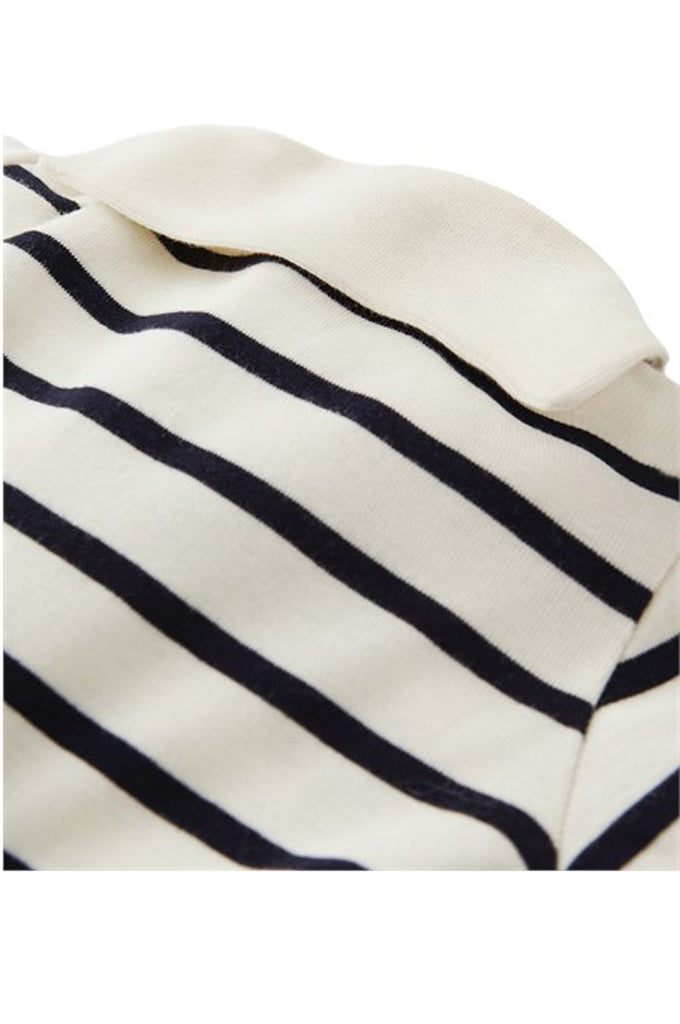 Striped Sailor Collar Footie