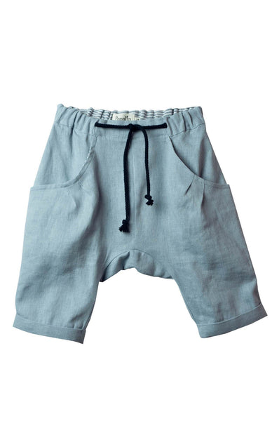 Popelin Blue Shorts