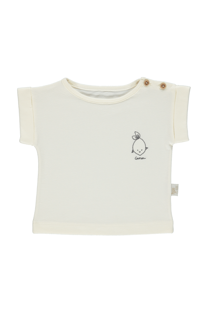 Poudre Organic  T-shirt Lait w/embroidery