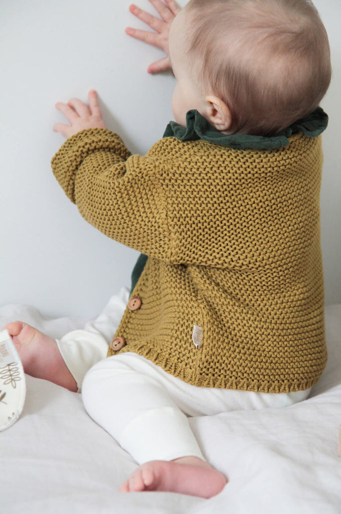 Knitted Baby Cardigan cassonade