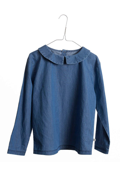 Shirt With Collar Dusty Air Blue Repose AMS
