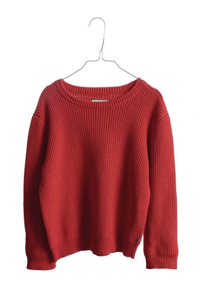 Oversized Knit Sweater Red Clay Repose AMS