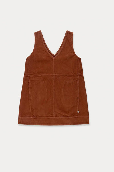 Repose AMS SHIFT DRESS STRONG CHESTNUT