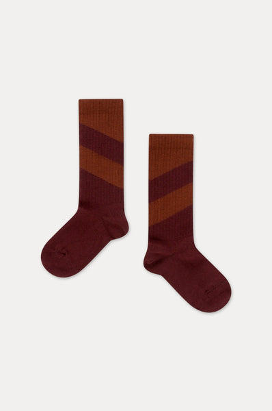 SOCKS WARM BERRY DIAGONAL