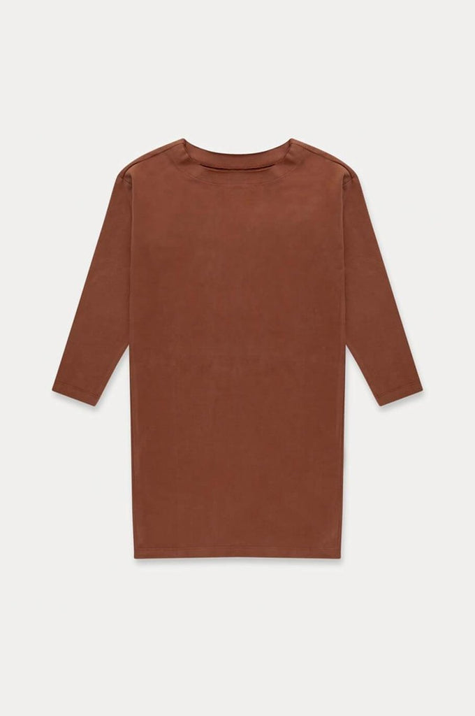 Repose AMS T-SHIRT DRESS STRONG CHESTNUT