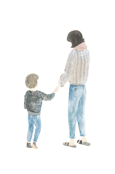 Illustration Mother & Son