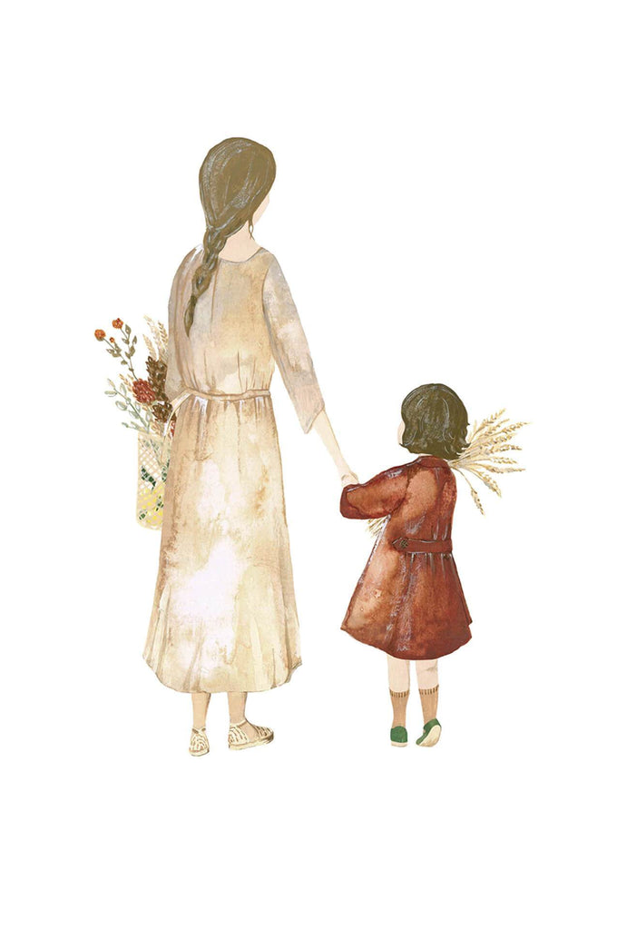 Illustration To The Market / Mother & Daughter