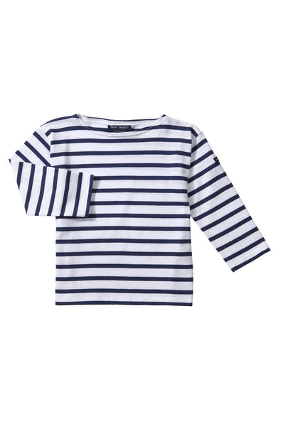 Minquiers Striped T-Shirt Ecru/Marine