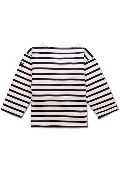 Meridien Moderne Striped Sweater Ecru/Marine