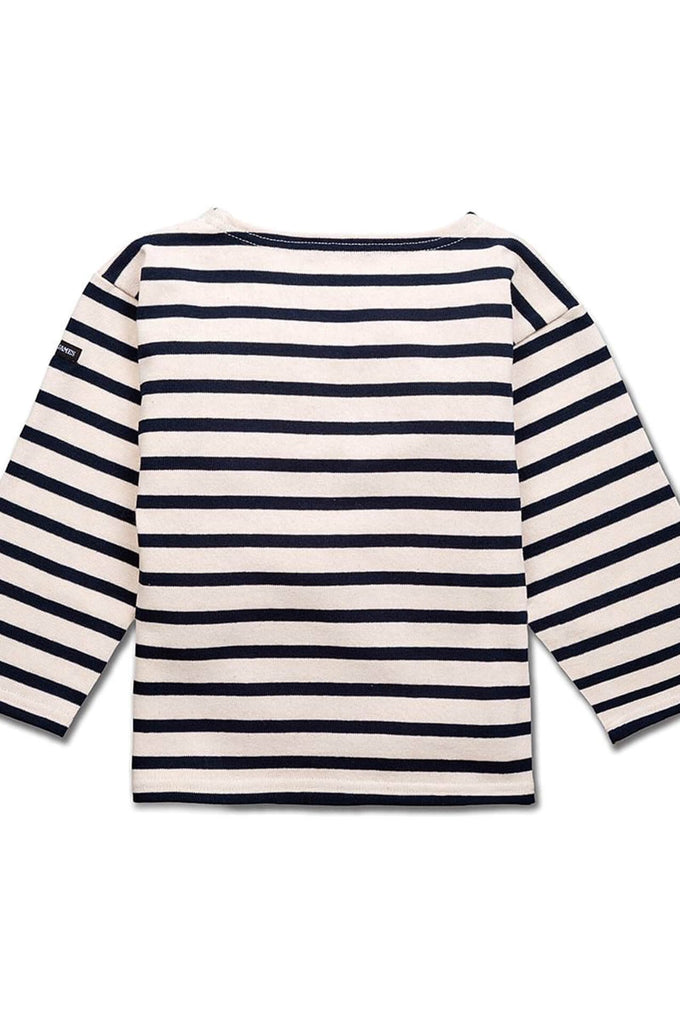 Meridien R E Striped Sweater Ecru/Marine kids Saint James