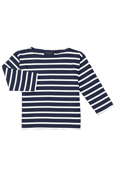 Minquiers Striped T-Shirt Marine/Ecru