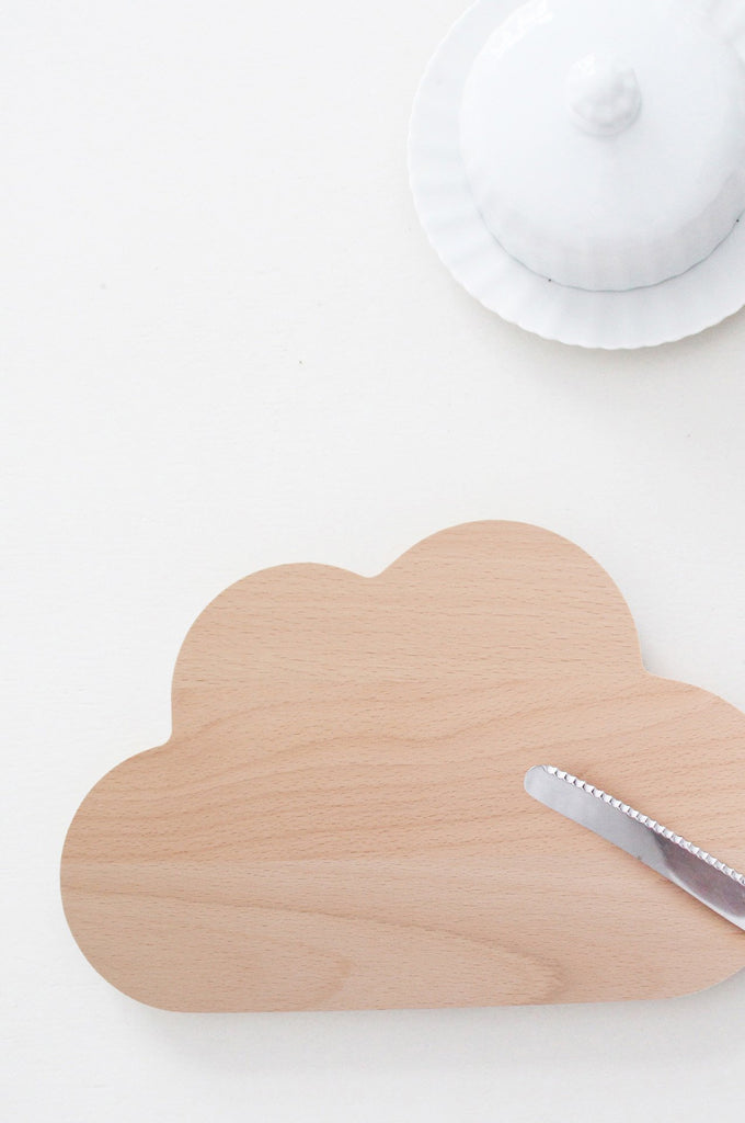Cloud wooden breadboard