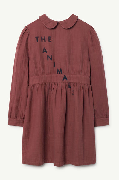 Canary Kids Dress Maroon Navy The Animals Observatory