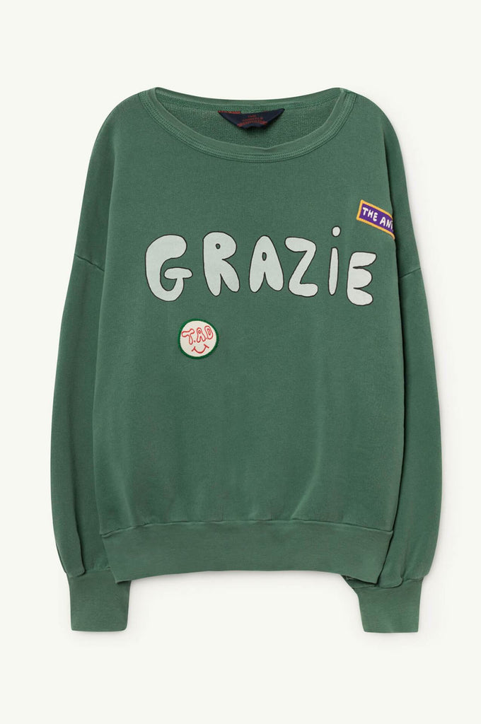 The Animals Observatory Big Bear Sweatshirt Green Grazie