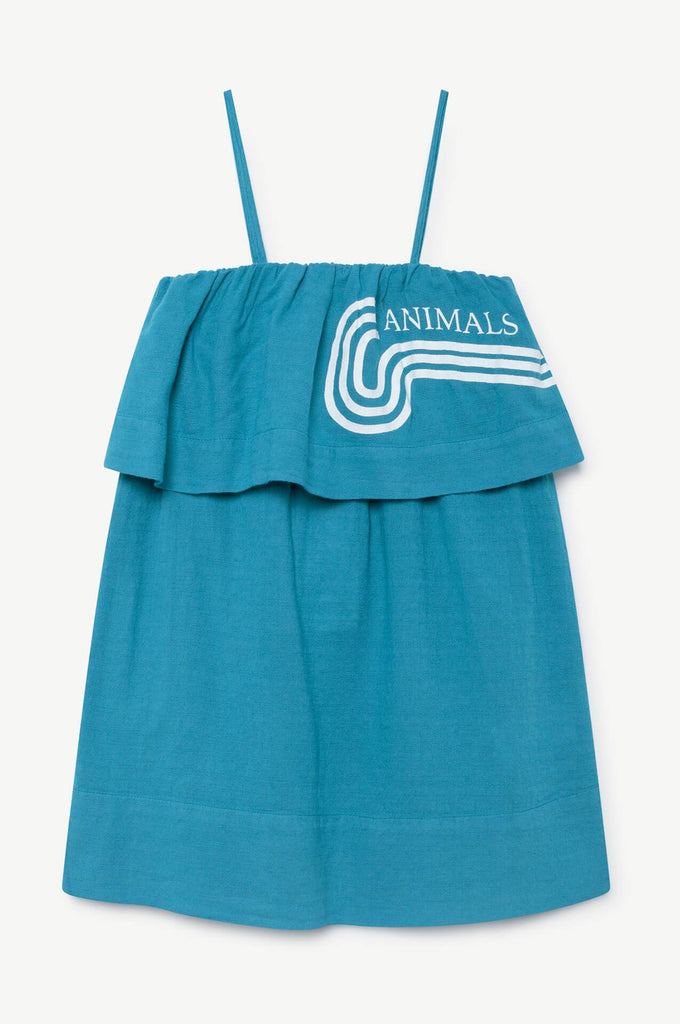 The Animals Observatory Dove Kids Dress Blue Animals