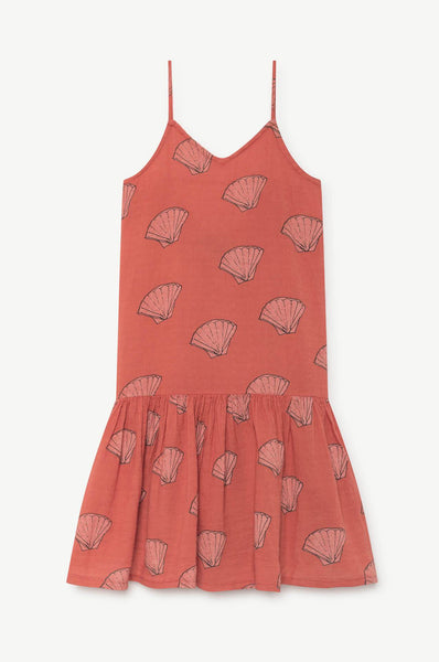 The Animals Observatory Mouse Kids Dress Red Shells