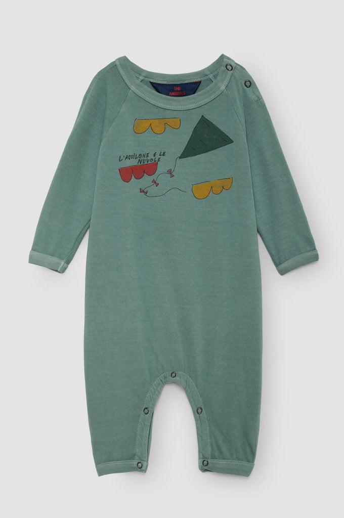 The Animals Observatory Owl Babies Pajamas Turquoise Kite