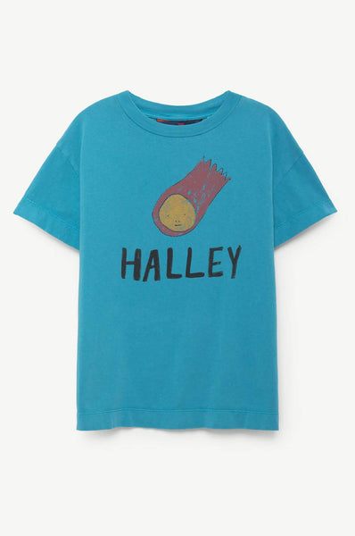 The Animals Observatory Rooster Kids T-Shirt Blue Halley