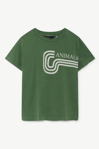 The Animals Observatory Rooster Kids T-Shirt Green Animals