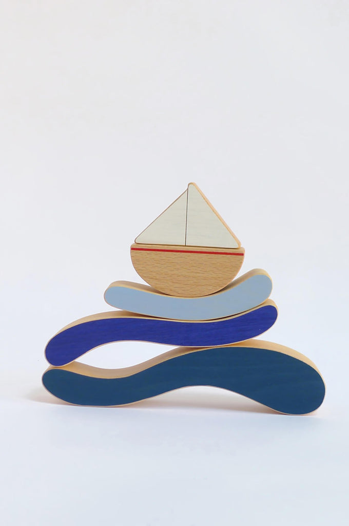 The Boat & Waves stacking toy