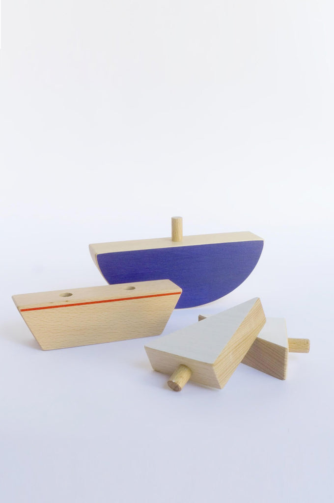 The Boat puzzle & balancing toy The Wandering Workshop