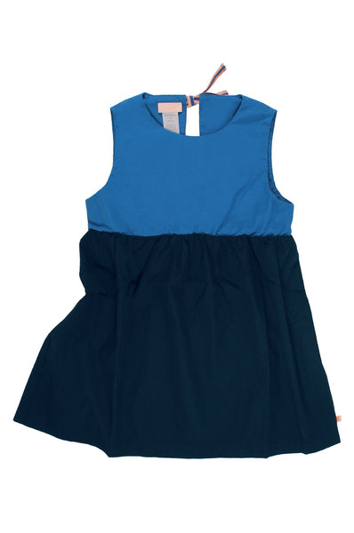tinycottons  color block dress navy/blue