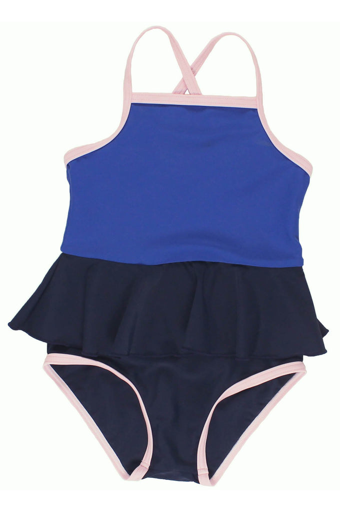 tinycottons  frill swimsuit dark navy