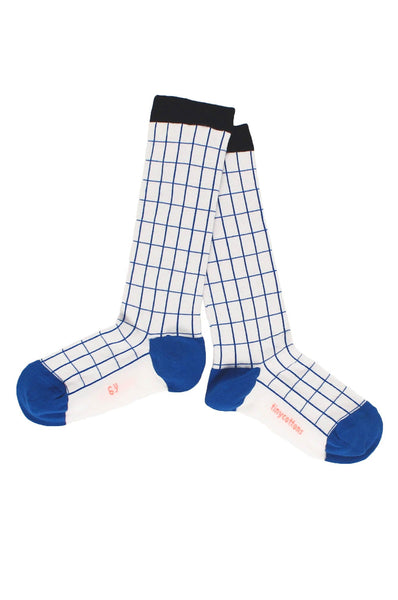 tinycottons  grid high socks