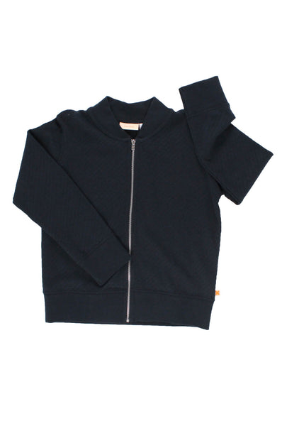 tinycottons  holes bomber jacket dark blue