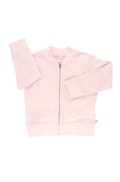 tinycottons  holes bomber jacket light pink
