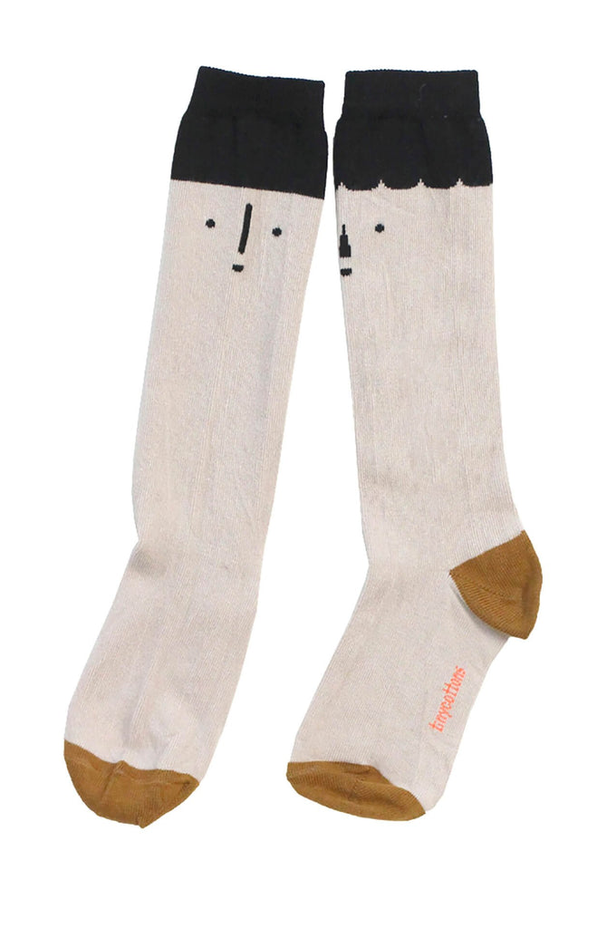tinycottons big faces high socks black