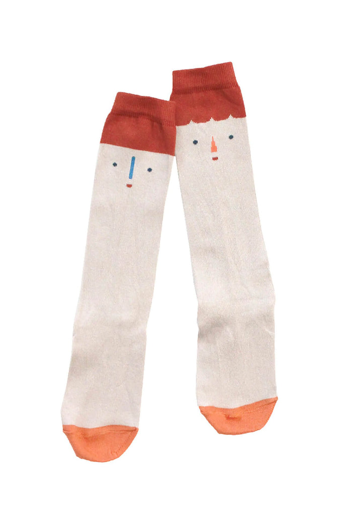 tinycottons big faces high socks multicolor