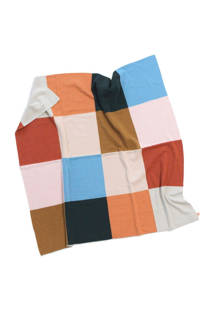 tinycottons  color block knit blanket
