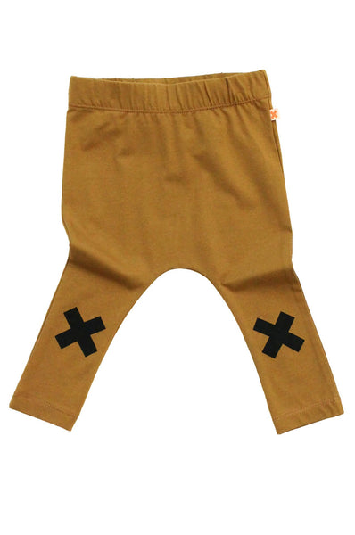 tinycottons  logo pant terracotta