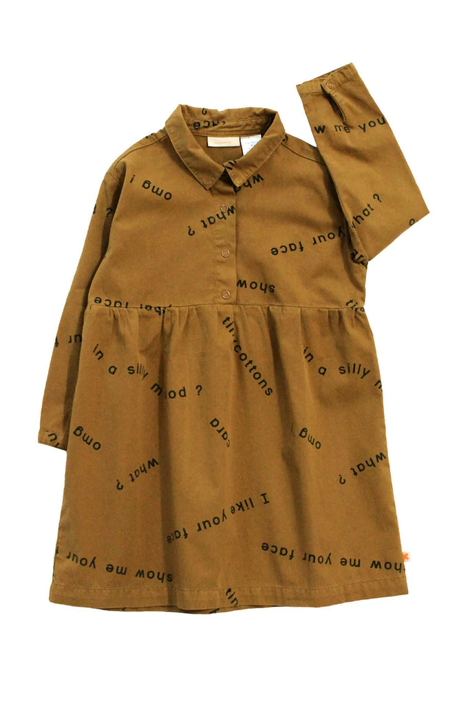 tinycottons  many words woven dress