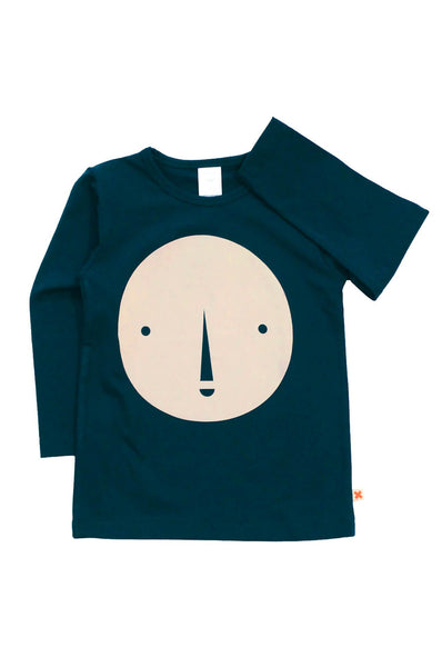tinycottons  round face graphic ls tee