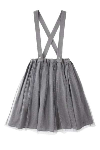 Tocoto Vintage Tulle Suspender Skirt Grey