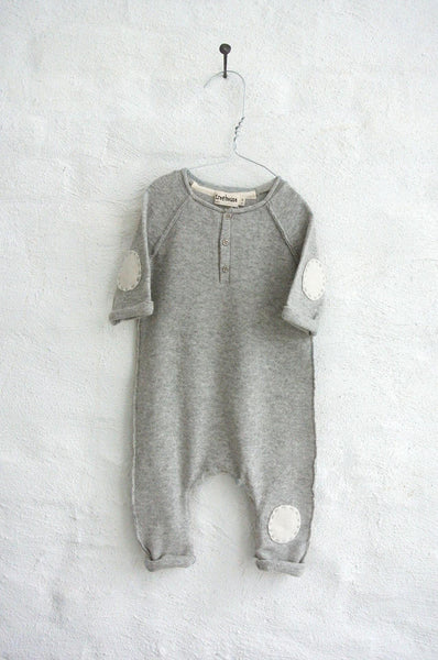 Oniko Onesie with patch embroidery light grey marl