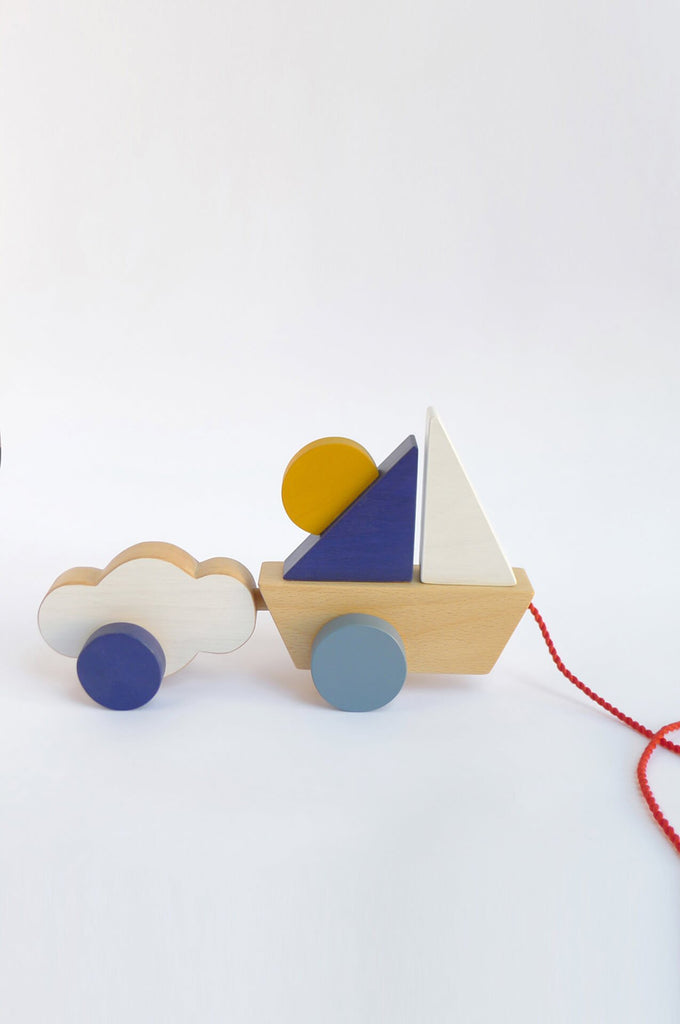 The Boat & Cloud pull toy The Wandering Workshop