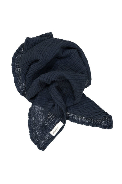 Muslin Scarf Small - Blue Abyss