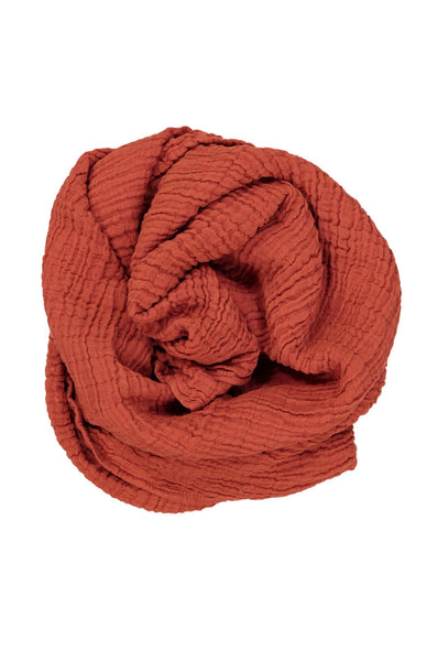 Muslin Scarf Long X - Red Leap