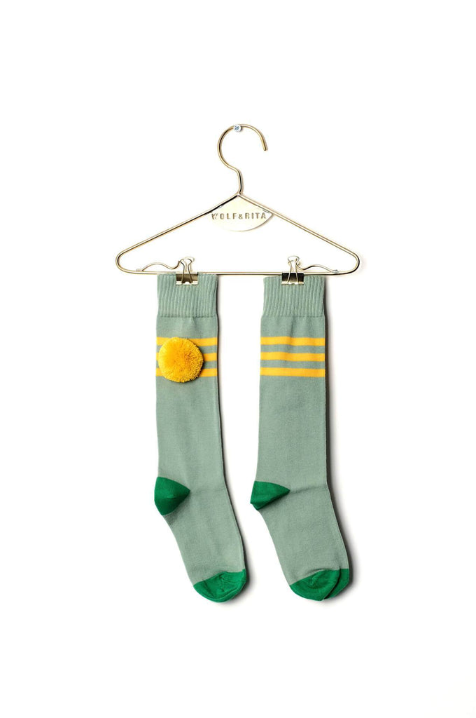 Wolf & Rita Kids Long Socks Yellow Stripes