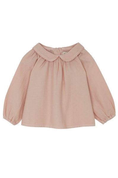 Yellowpelota Collar Blouse Pink Grey