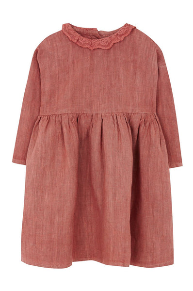 Yellowpelota Native Collar Dress Terracotta