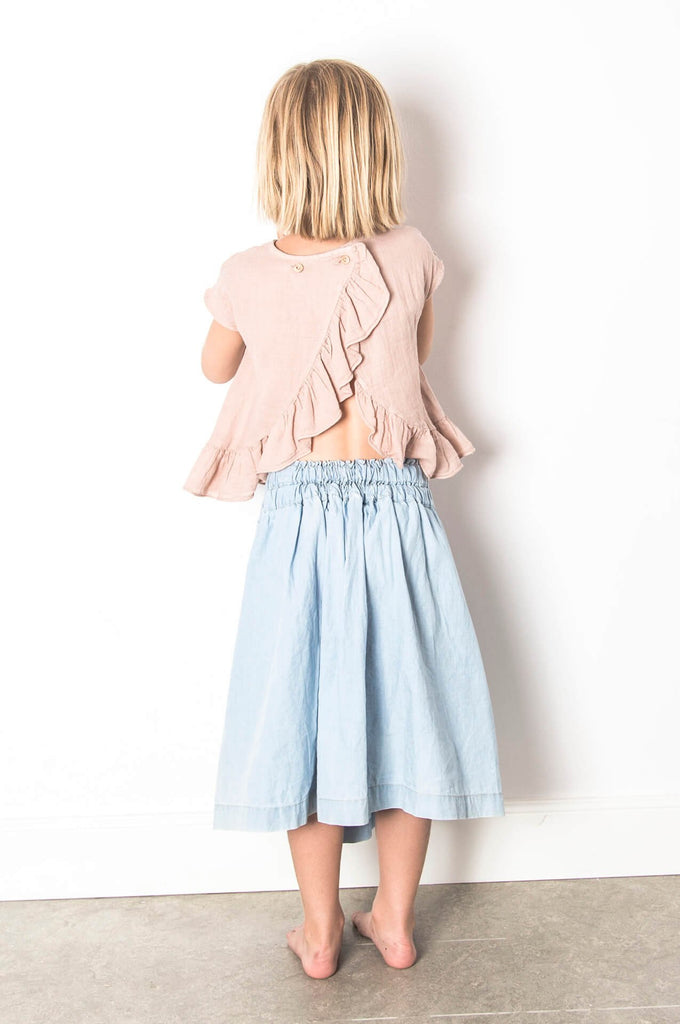 Skirt washed denim