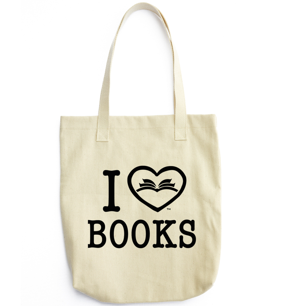 Women s I LOVE BOOKS™ Tote Bag - Servonta 7dd7fa7a3